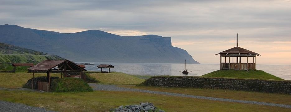 Thingeyri viikingiküla Islandil ja laev Vesteinn